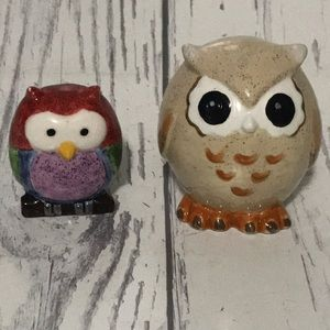 6/$25 Two Pottery Owls
